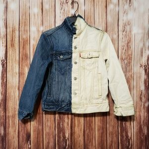 Levi's Custom Colorblock Demin Jean Jacket